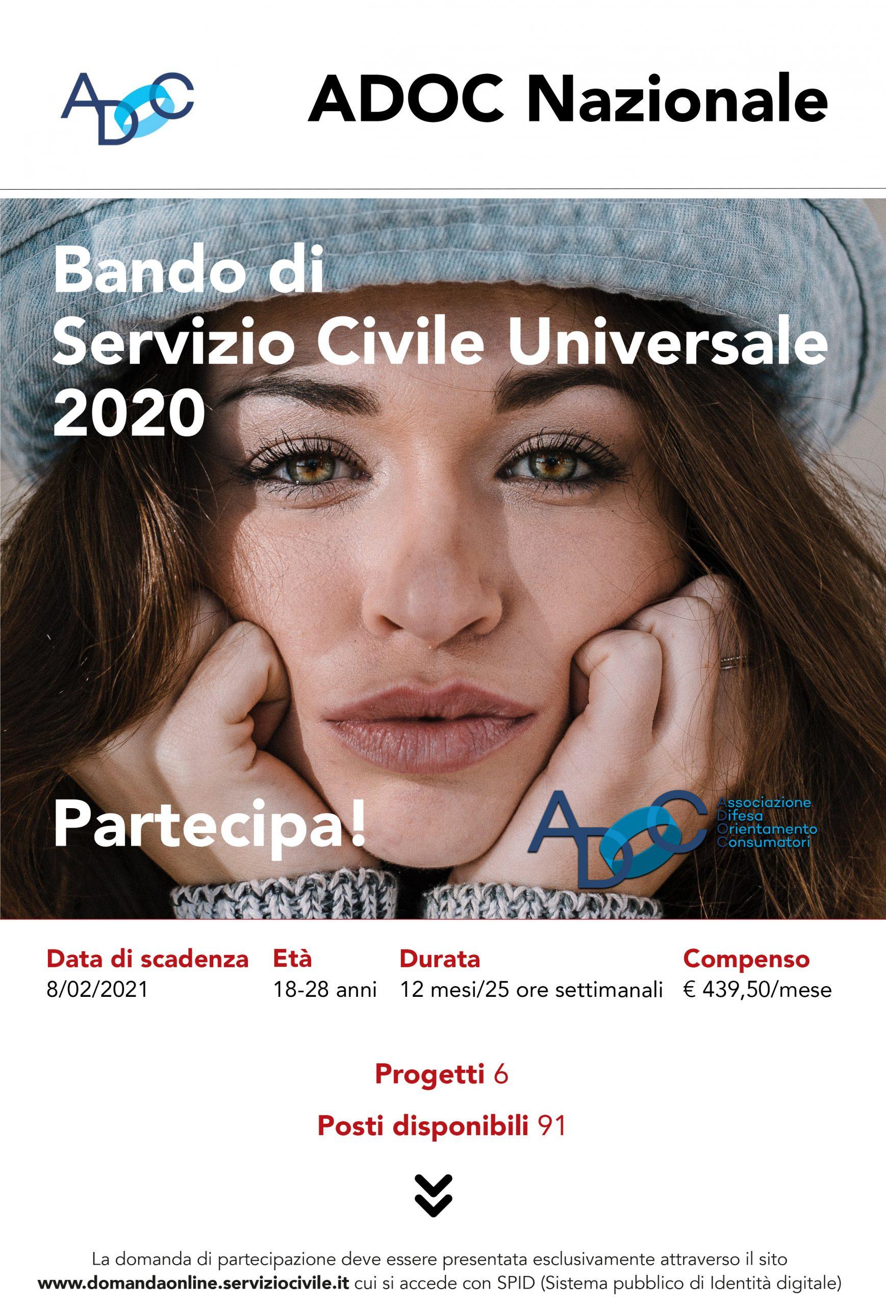 Servizio Civile Universale: pubblicato il bando 2020