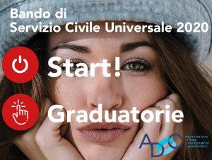 Read more about the article SERVIZIO CIVILE UNIVERSALE BANDO 2020: graduatorie provvisorie ADOC