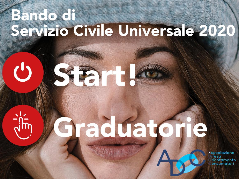 SERVIZIO CIVILE UNIVERSALE BANDO 2020: graduatorie provvisorie ADOC